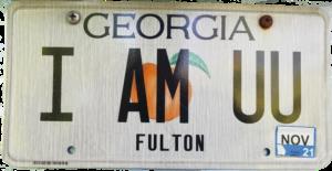I am UU Georgia License Plate